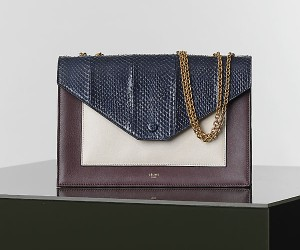 Celine-Pocket-Handbag-In-Navy-Blue-Multicolour