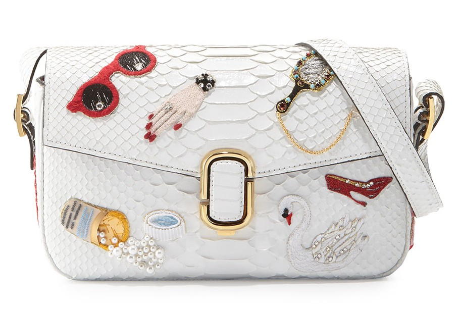 Marc-Jacobs-J-Marc-Embroidered-Python-Shoulder-Bag