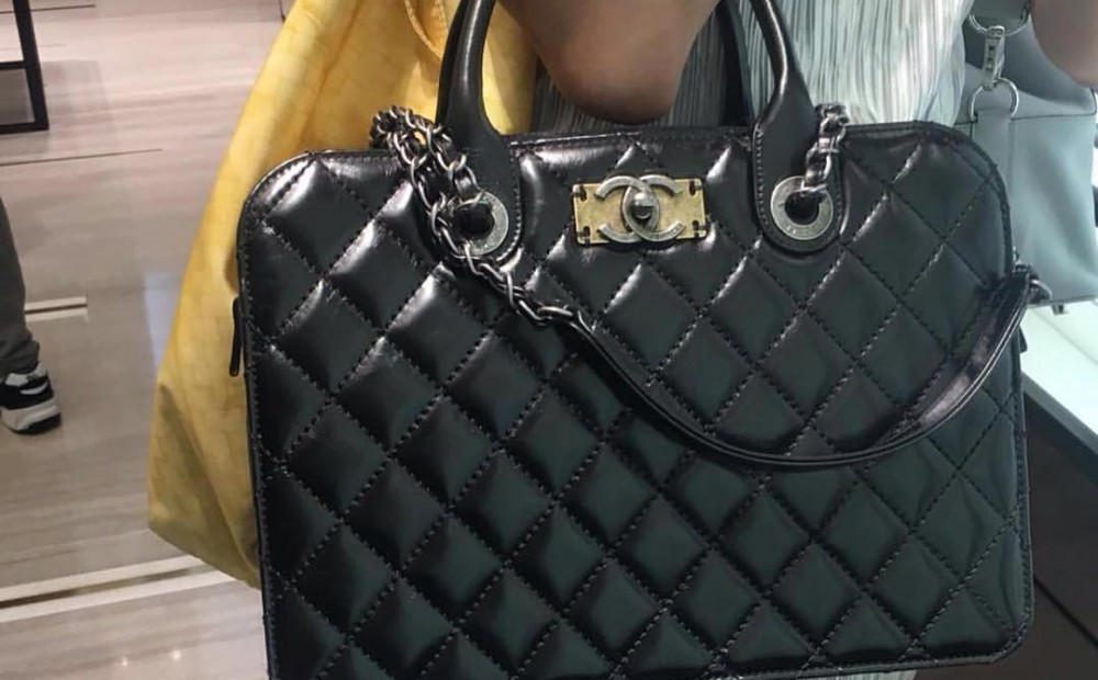 Chanel-Quilted-Tote-Bag-with-Vintage-CC-Clasp