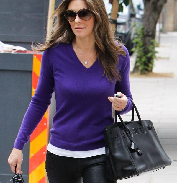 Elizabeth Hurley carries a rare Hermes Birkin Bags Prices 2015 Replica Birkin in London (1)